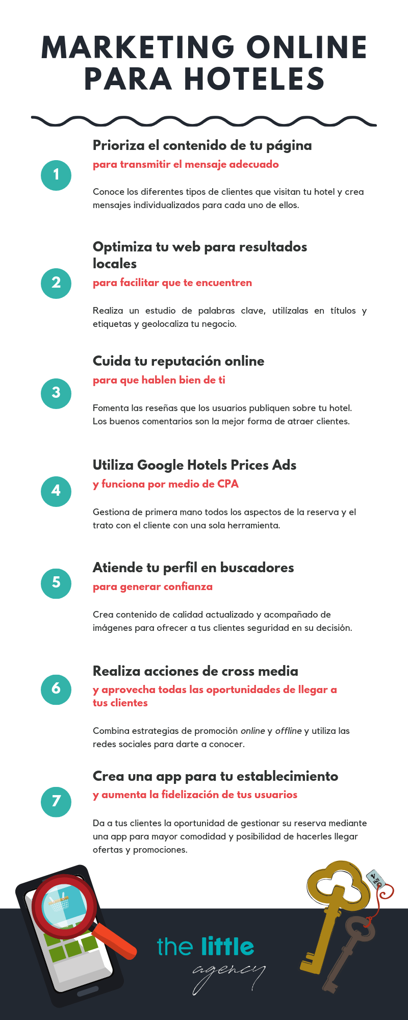 Infografia consejos marketing para hoteles