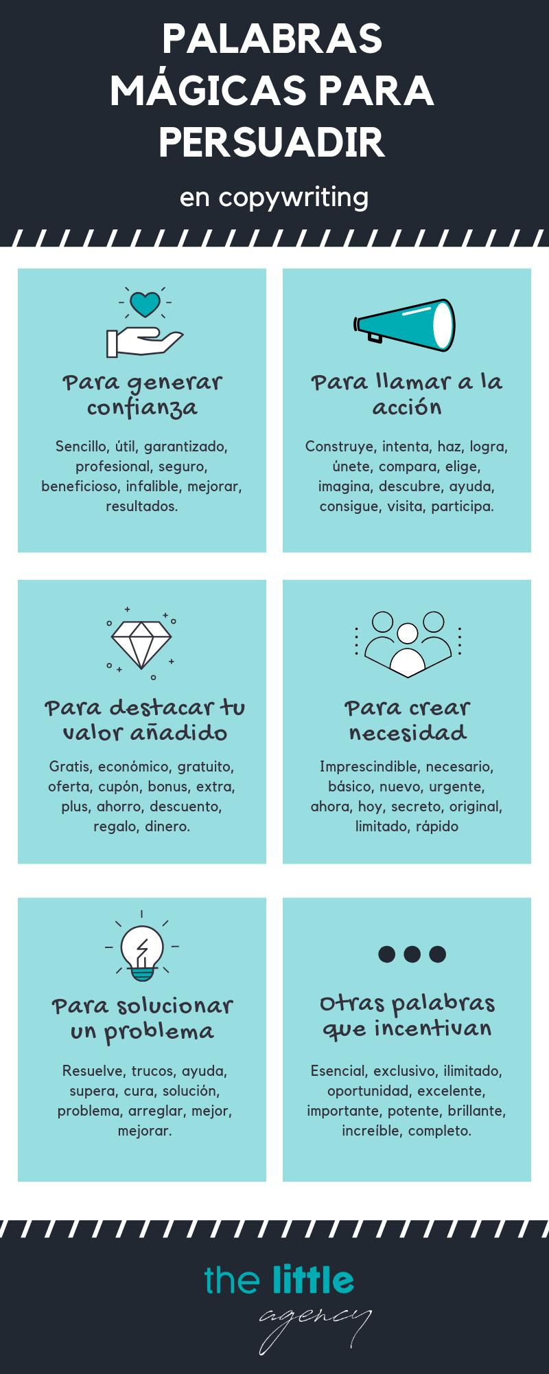 Infografia palabras para persuadir en copy