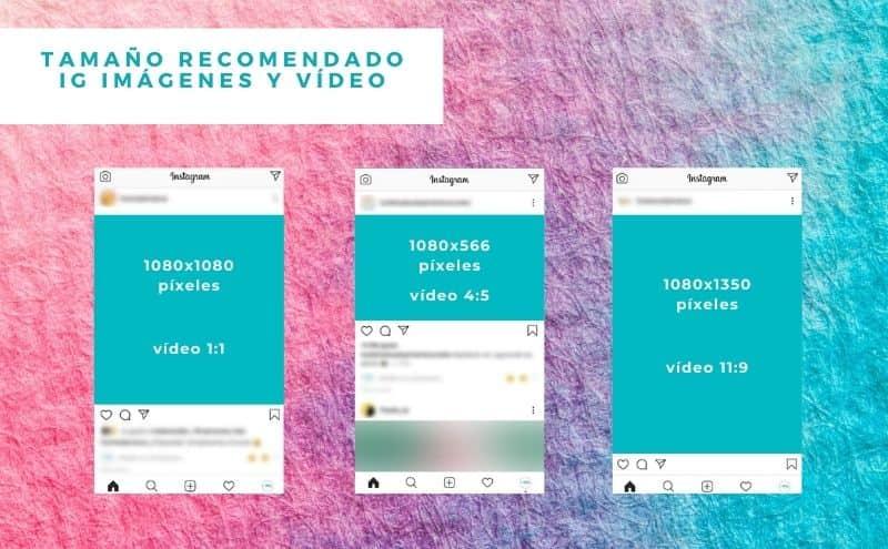Recomendación tamaño imagen y vídeo