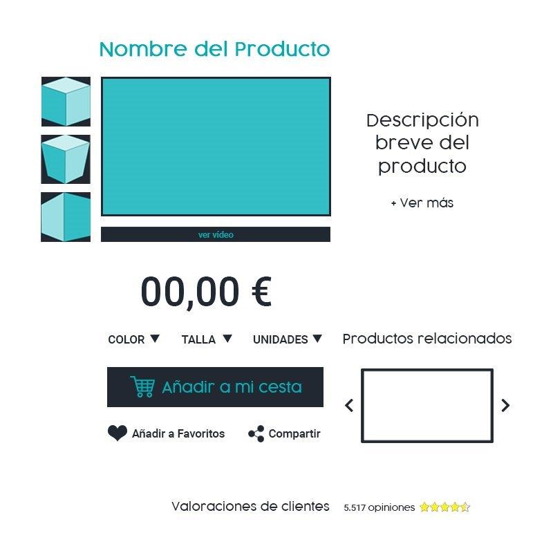 ficha producto ecommerce